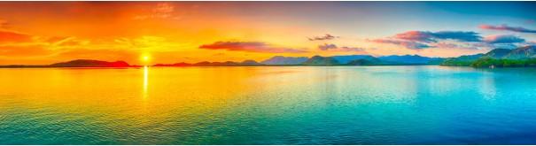 Скинали 'Цветной закат над океаном'