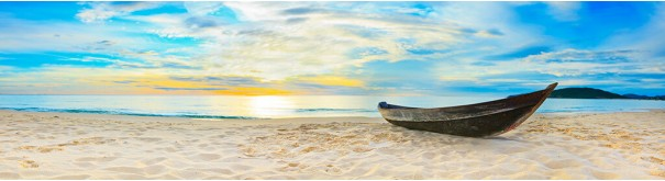 Скинали 'Лодка, белый песок'
