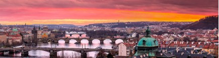 Скинали 'Прага. Розовый закат'