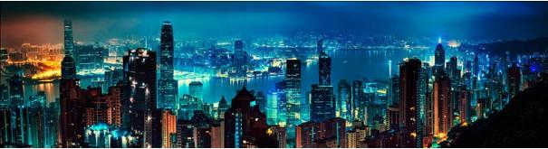 Скинали 'Ночная панорама Гонконга'