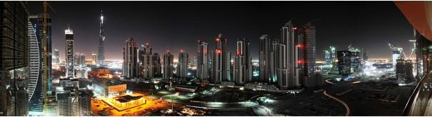 Скинали 'Небоскребы Дубая ночью'