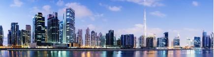 Скинали 'Панорама утреннего Дубая'