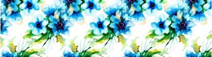 Скинали 'Цветы акварелью'