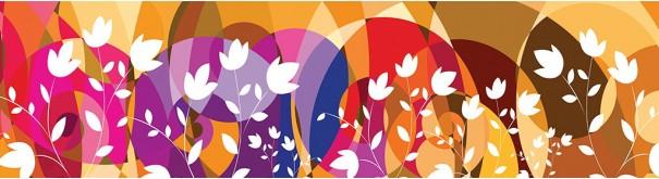 Скинали 'Абстракция с цветами'