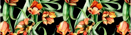 Скинали 'Паттерн с тюльпанами'