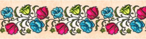 Скинали 'Цветочный узор D0'