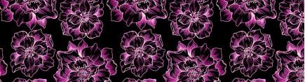 Скинали 'Неоновые цветы'