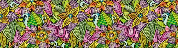 Скинали 'Граффити с цветами'