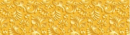 Скинали 'Узор золотые лепестки'