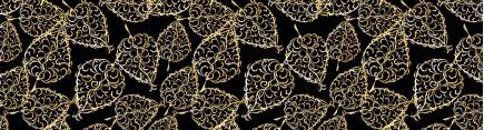 Скинали 'Орнамент золотые листья'