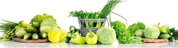 Скинали 'Зеленые овощи с корзиной'