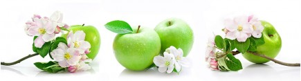 Скинали 'Зеленые яблоки с цветами'