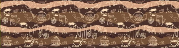 Скинали 'Кофейный узор'