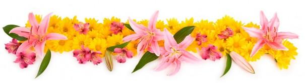 Скинали 'Букет с розовыми лилями'