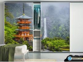 Шкаф-купе 'Пагода у водопада 05.02'